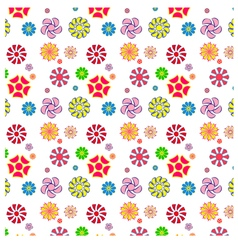 Easy and fun pattern of flowers vector