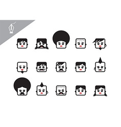 Character face vector