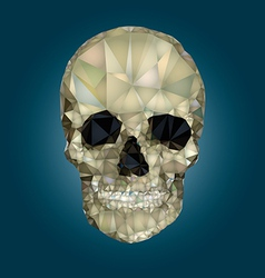 Skull low poly crystal vector