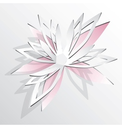 Flower cut out of paper vector