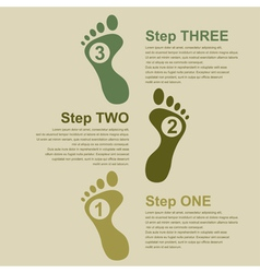 Footsteps infographic vector