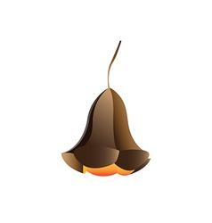 Modern lamp object minimalist flower vector