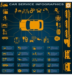 Car service repair infographics vector