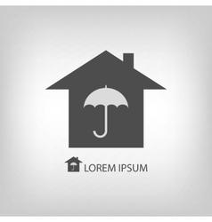 House with umbrella vector