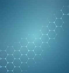Clean blue background with hive vector