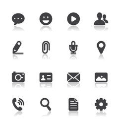 Chat icons for application vector