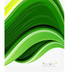 Abstract realistic solid wave background vector