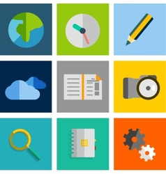 Set of flat universal icons vector