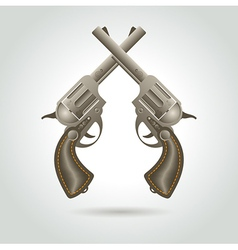 Revolver gun weapon element vector