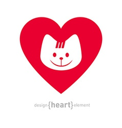 I love my cat icon isolated on white background - vector