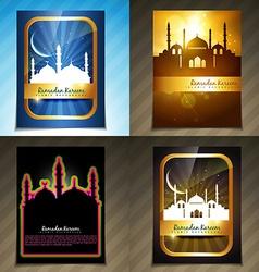 Attractive set of brochure of ramadan festival vector