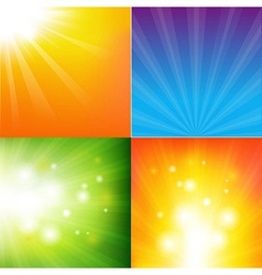Abstract color sunburst background vector