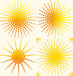 Sun-set-pattern vector