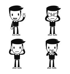Funny cartoon helper man vector
