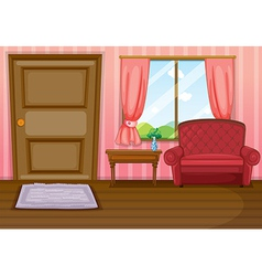 An empty living room vector