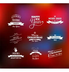 Christmas set - labels emblems and elements vector