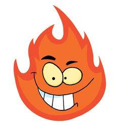 Flame cartoon character vector