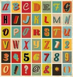 Retro alphabet for you business presentations vector