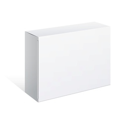 Realistic white package box for software vector