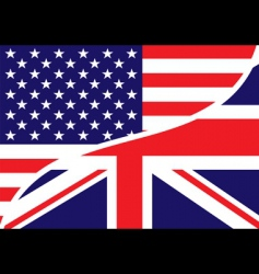 Usa british flag vector