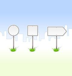 Blank traffic signs vector