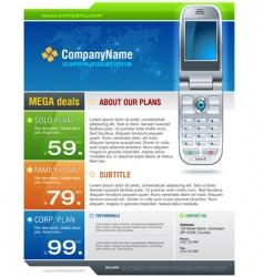 Cellphone brochure vector
