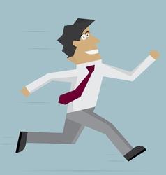 Businessman run forward vector