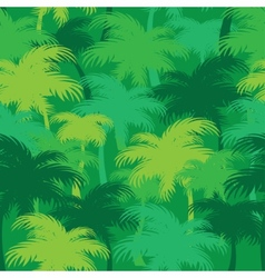 Palm thickets vector