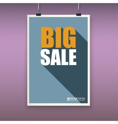 Vintage poster big sale vector