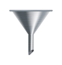 Metallic funnel vector