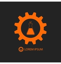 Orange chemical industry logo vector