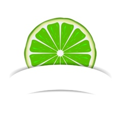 Lime with paper banner vector