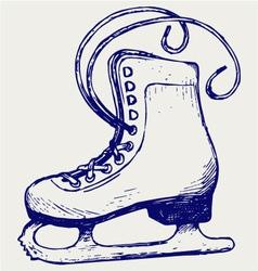 White skates vector
