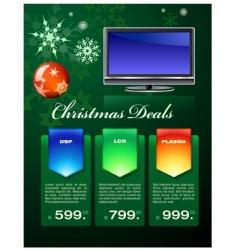 Christmas deals flyer vector
