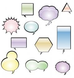 Comic book speech balloons vector