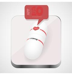 Pill app icon vector