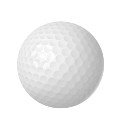 Golf ball over white vector