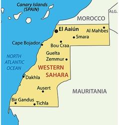 Western sahara - map vector