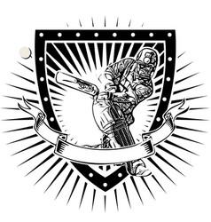 Cricket shield vector