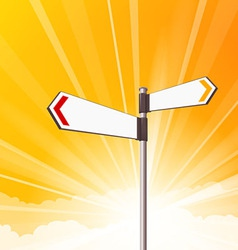 Blank destination signs vector