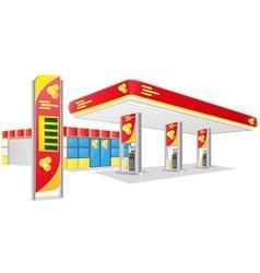 Car petrol station vector