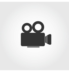Video camera icon flat design vector