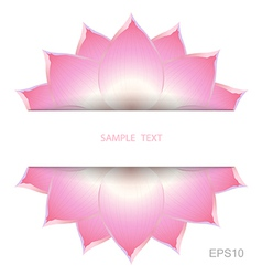 Lotus background decorate vector