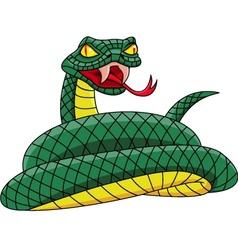 Angry snake vector
