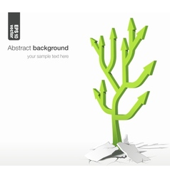Arrows tree - growth success concept vector