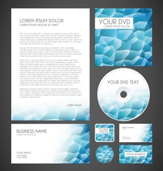Modern crystal graphic business layout vector