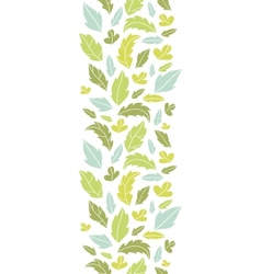 Leaves silhouettes vertical seamless pattern vector