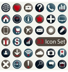 Set of round icons for mobile app and web vector