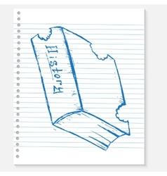 Sketch book on a notebook sheet vector