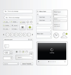 Web user interface elements vector